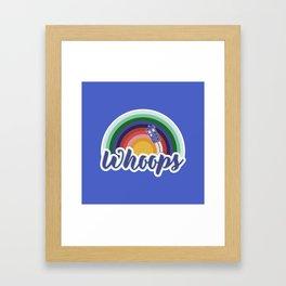 Retro Whoops Framed Art Print