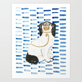 BESPECTACLED on BLUE Art Print