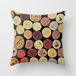 Wine Tops Throw Pillow