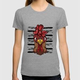 Chicken With Bandana Headband T-shirt