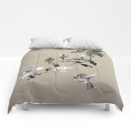 Magnolia And Two Sparrows Comforters