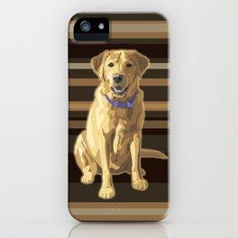 Happy Yellow Labrador Retriever Retro iPhone Case