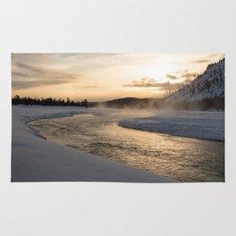 Yellowstone National Park - Sunrise along the Madison River Rug