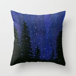 Twinkle, Twinkle, Stars Night Sky Painting Throw Pillow