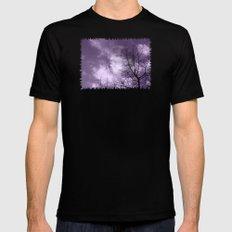 Purple Night  - JUSTART © Mens Fitted Tee Black MEDIUM