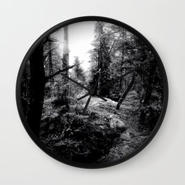 Fall Forest Morning Wall Clock