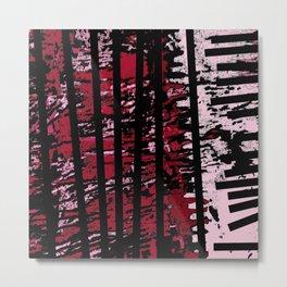 Lines and Mouv Metal Print