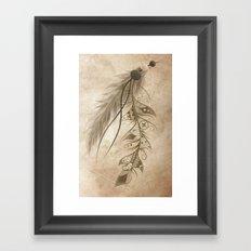 Bohemian Feather Framed Art Print