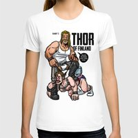 finland T-shirts featuring Thor of Finland (Color Version) by Randy Meeks