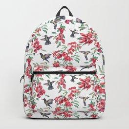 hummingbird with ceibo tree flowers Backpack