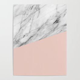 Marble and Pale Dogwood Color Poster