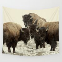 buffalo Wall Tapestries featuring American Buffalo by Color and Patterns