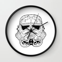 Day of the Death Star Stormtrooper Black and White Wall Clock