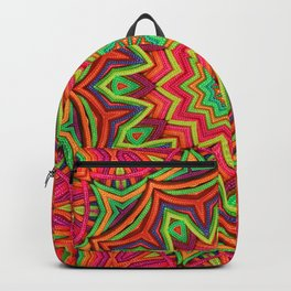 embroidered kaleidoscope 3D Backpack