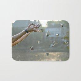 Paper Cranes Bath Mat