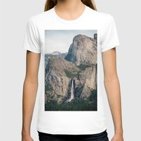 yosemite T-shirts featuring Yosemite Waterfall by Laura Ruth