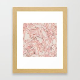 Red marble pattern #5 Framed Art Print