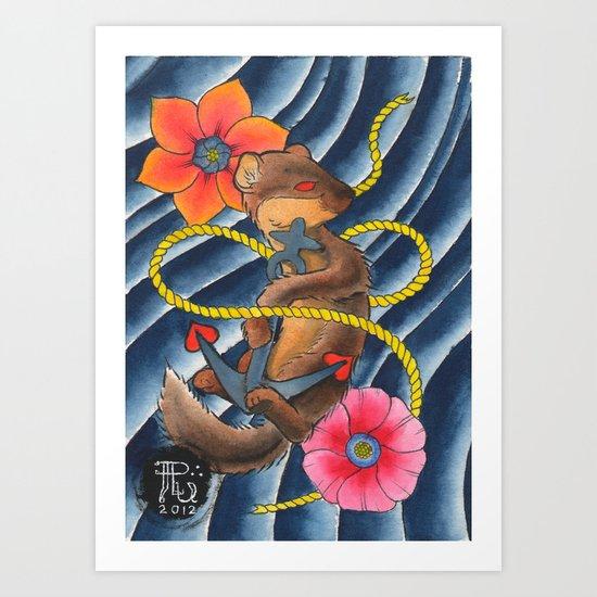Don't Weasel Around Art Print