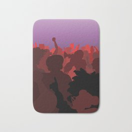 Women Marching (Red Version) Bath Mat
