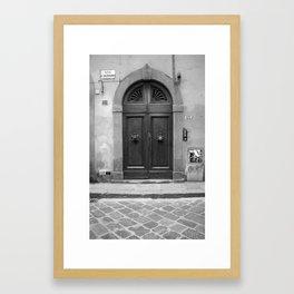 via sant'antonino 13 b&w Framed Art Print