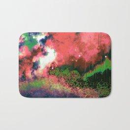 """The Crystal Forest"" (Green/Pink) Digital Painting // Fine Art Print Bath Mat"