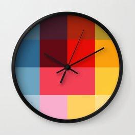 Chromatic squares Wall Clock