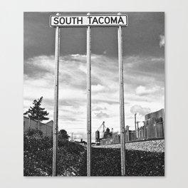 South Tacoma Sounder Station Sign Canvas Print