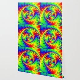 """""""Psyspiral"""" Psychedelic Spiral Fractal Art Wallpaper"""