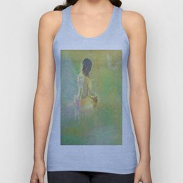 The angel and the dove of the peace Unisex Tank Top