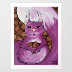 Awe Nuts  Art Print
