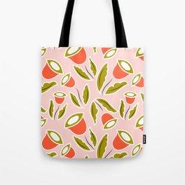 Eye Shaped Flower Tote Bag