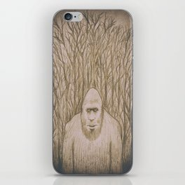 Sasquatch in the woods iPhone Skin
