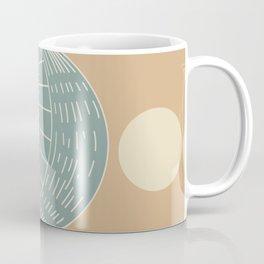 Bohemian Moon - Mid Century Modern Circles Coffee Mug