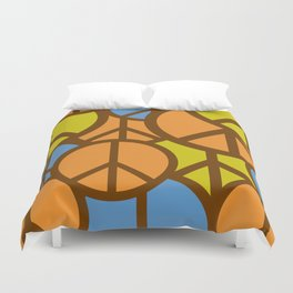 Cool Colorful Groovy Peace Symbols #society6 #decor #buyart #artprint Duvet Cover