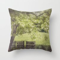 elmo Throw Pillows featuring Hanging out in the Shade by Kimberley Britt