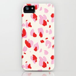 Abstract Leopard iPhone Case