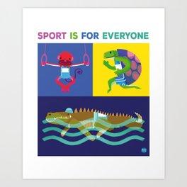 ANIMAL SPORT Art Print