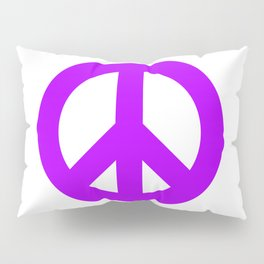Purple Peace Sign, Power of Peace, Power of Love, Social Justice Warrior, Super Sharp PNG Pillow Sham