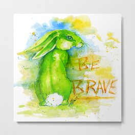 Be Brave In Color Metal Print