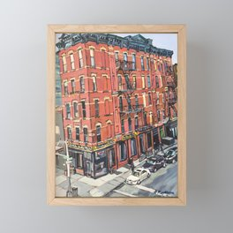 View of 17th Street From the High Line Framed Mini Art Print