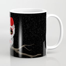 Adorable Red Day of the Dead Sugar Skull Owl Coffee Mug