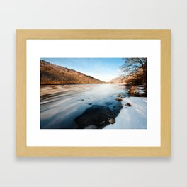 Brother's Water Winter Framed Art Print