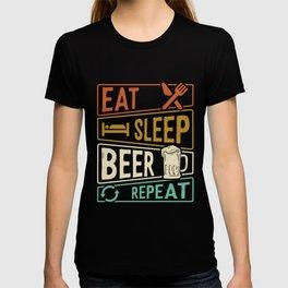 Eat Sleep Beer Repeat beer lovers T-shirt