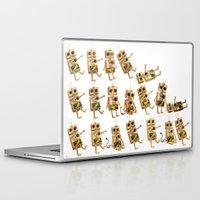 robots Laptop & iPad Skins featuring robots by Lara Paulussen