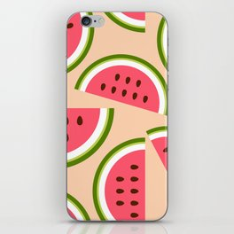 Watermelon pattern iPhone Skin