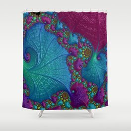Blue Cotton Candy Shower Curtain