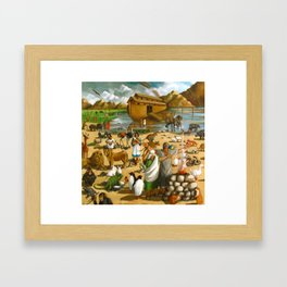 Noah And The Ark Framed Art Print