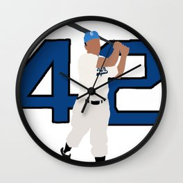 Jackie Robinson Minimalism Art Wall Clock