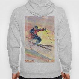 Colorful Skiing Art Hoody