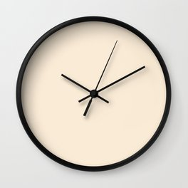 Simple Solid Color Antique White All Over Print Wall Clock